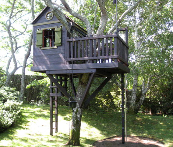 Easy Affordable Tree House Plans | CAD Pro