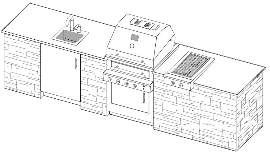 outdoor kitchen plans with cad pro