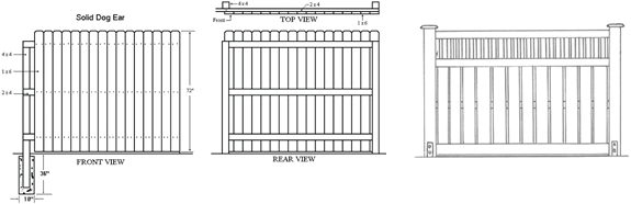 Fence design software fence designs wood fence designs Blueprint designer free