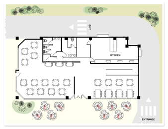 Office-Layout-Restaurant Drawing
