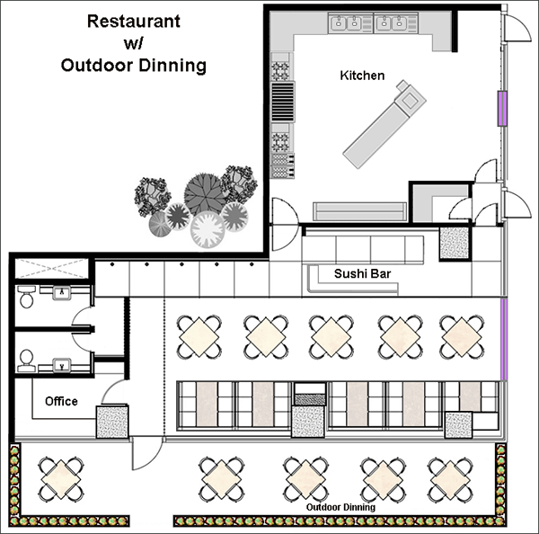 Restaurant design software quickly design restauarants for Design your own restaurant floor plan