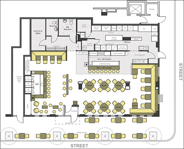 Restaurant design software quickly design restauarants Floor plan design program