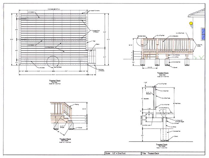 Wood deck designs deck design deck design software for Deck planning software
