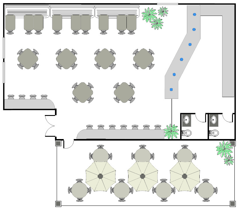 Restaurant design cad pro for Restaurant planning software