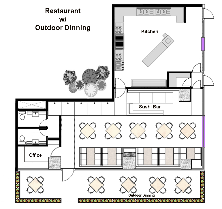 Restaurant floor layout cad pro