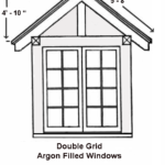 Double Grid Argon Filled Windows
