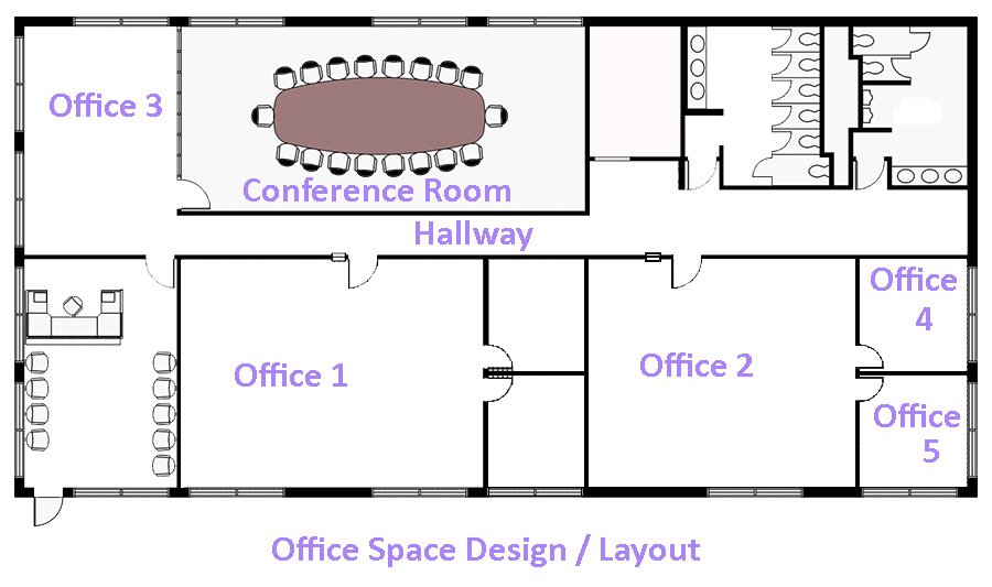Commercial drawings office layouts office design software for Space planning software