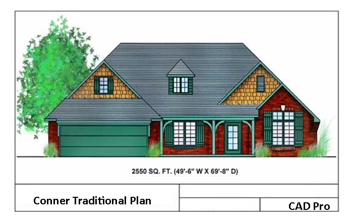 Marvelous Elevations. Conner Traditional House Design
