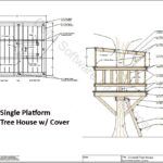 Covered Single Platform Treehouse Design