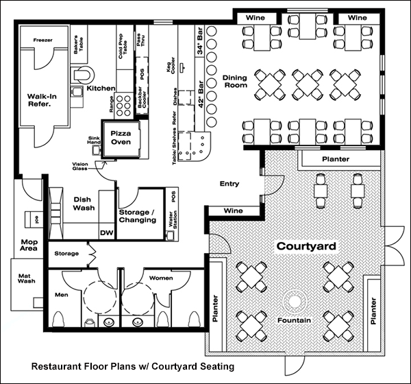 Restaurant floor plans drafting software cad pro for Design your own restaurant floor plan