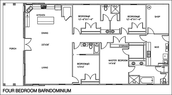 Easy Barndominium Floor Plans