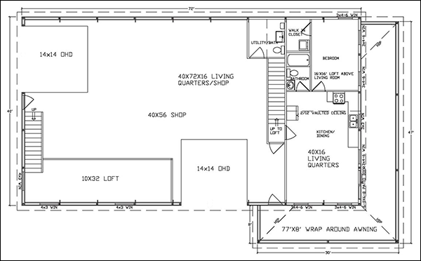 Easy Metal Building Floor Plan Software CAD Pro - Floor plans for metal buildings
