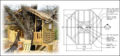 Easy Affordable Tree House Design Plans