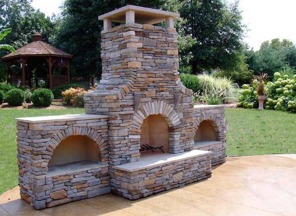 Best Outdoor Fireplace Design Ideas | CAD Pro on Brick Outdoor Fireplace Ideas id=59612