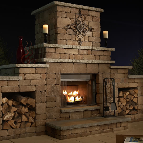 Easy outdoor fireplace design plans cad pro for Wood burning fireplace construction