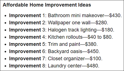 Affordable DIY Home Projects