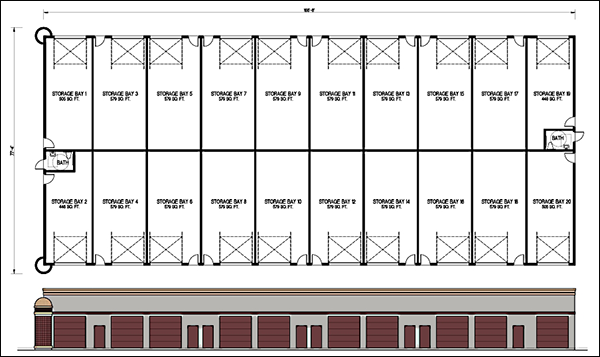 Mini Storage Building Floor Plans