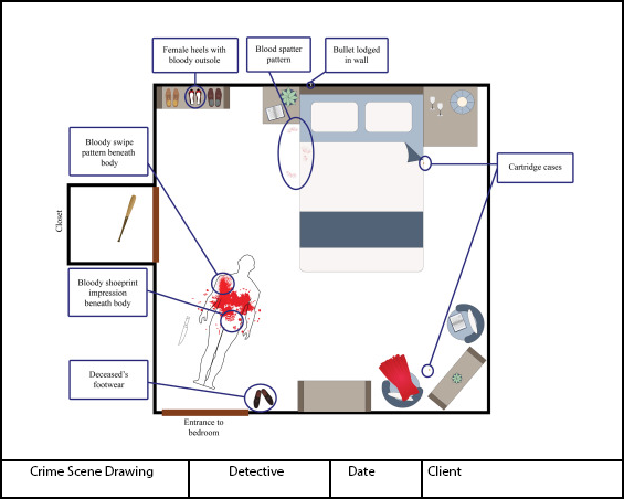 Crime Scene Layout Drawings