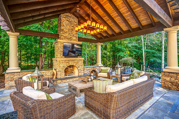 planning outdoor living space with popular outdoor living space plans
